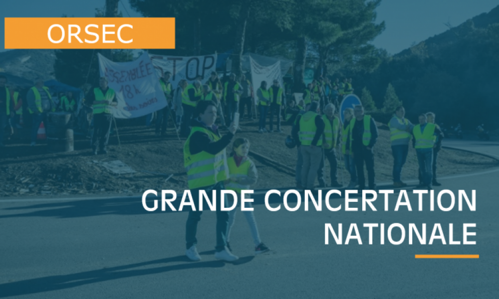 Illustration : GRANDE CONCERTATION NATIONALE
